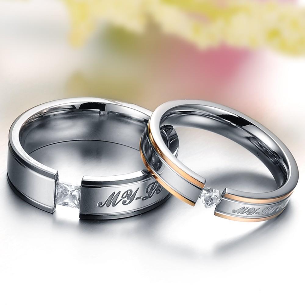 Fashion-2014-Vintage-Jewelry-Titanium-Steel-Couple-Ring-Top-Quality-Heart-Round-CZ-Diamond-Rings-For